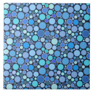 Carreau Motif frais de bulles de bleu
