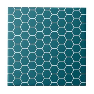 Carreau Motif géométrique d'hexagone de turquoise à la