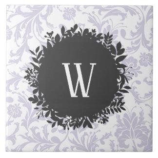 Carreau Motif gris-clair de papier peint floral avec le