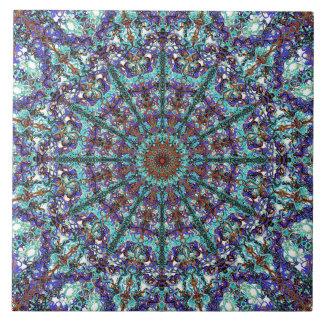 Carreau Motif lacé par mandala de turquoise de Boho