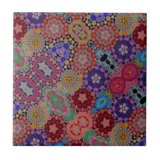 Carreau Motif multicolore d'édredon