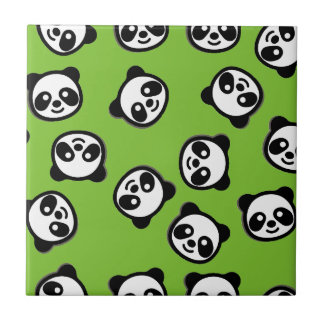 Carreau Motif noir et blanc de bande dessinée de panda