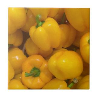 Carreau Motif végétal de paprika jaune
