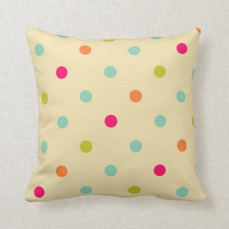 Carreau multicolore de point de polka coussin
