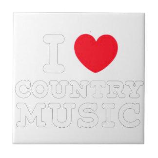 Carreau musique country W du coeur i