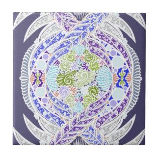 Carreau Naissance de la vie, nouvel âge, méditation, boho,