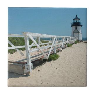 Carreau Nantucket. Vieux phare en bois