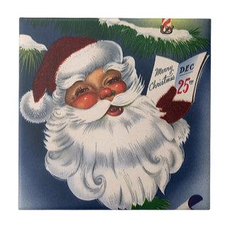 Carreau Noël vintage, les années 50 le rétro père noël gai