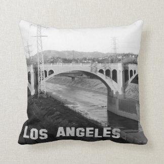 Carreau noir et blanc de Los Angeles Coussin Décoratif