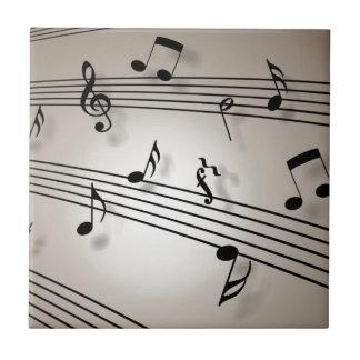 Carreau Notes de musique - musique de feuille