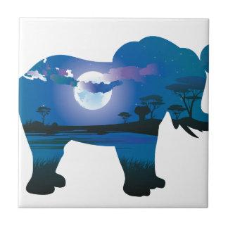 Carreau Nuit africaine avec l'éléphant 2