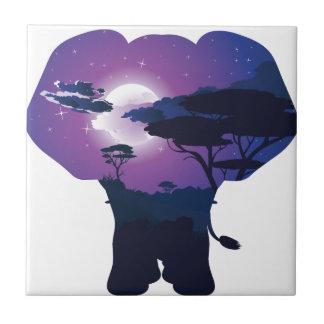 Carreau Nuit africaine avec l'éléphant 3