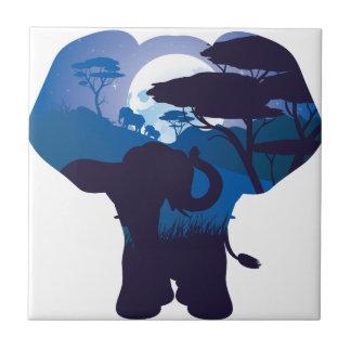 Carreau Nuit africaine avec l'éléphant 4