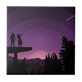Carreau Nuit d'étoile filante
