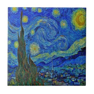 Carreau Nuit étoilée de Van Gogh