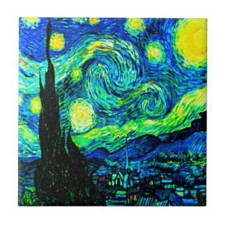 Carreau Nuit étoilée de Vincent van Gogh augmentée