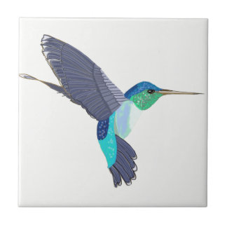Carreau Oiseau bleu et vert de ronflement