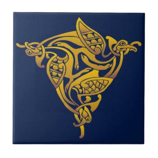Carreau Oiseau en bronze de Celtic d'or