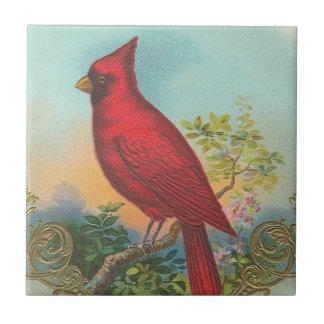 Carreau Oiseau rouge