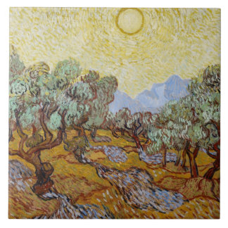 Carreau Oliviers de Vincent van Gogh  , 1889