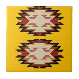 Carreau Or exotique d'Aztèques de conception