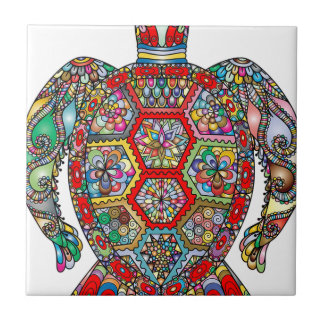 Carreau Ornamental décoratif de fleurs florales de tortue