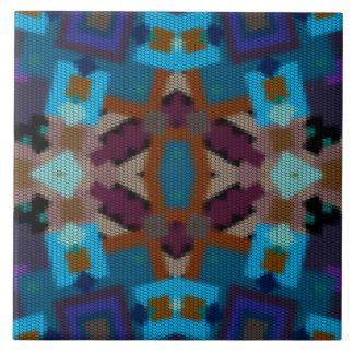 Carreau Ornement coloré par bohémien dans l'ethno-style,