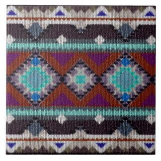 Carreau Ornement de Bohème dans l'ethno-style, Aztèque