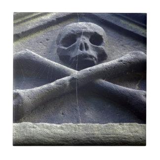 Carreau Os de squelette de crâne de Goth