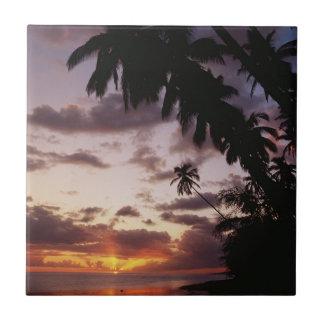 Carreau Palmiers en mer