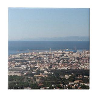 Carreau Panorama aérien de ville Toscane Italie de