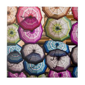 Carreau Parapluies colorés et rayés