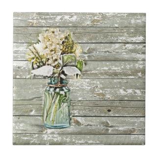 Carreau Pays français en bois de grange de fleur sauvage