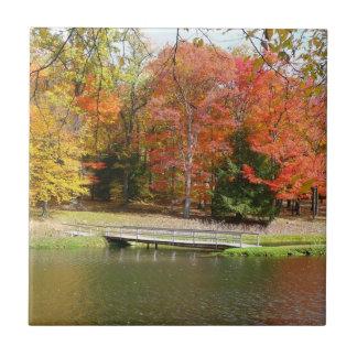 Carreau Paysage d'automne du pont III d'automne de sept