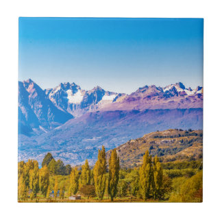 Carreau Paysage de lac et de montagnes, Patagonia, Chili