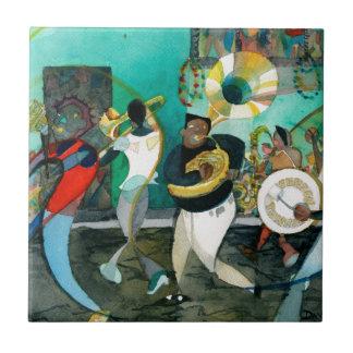 """Carreau Peinture """"jazz de musique de la Nouvelle-Orléans """""""