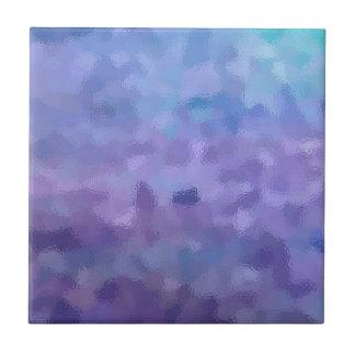 Carreau Peinture pourpre harassée et échelonnée