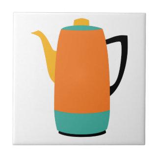 Carreau Percolateur orange de café
