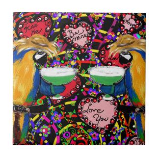 Carreau Perroquets de Valentine