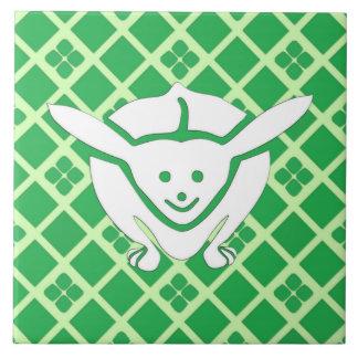 Carreau Petit lapin japonais, vert