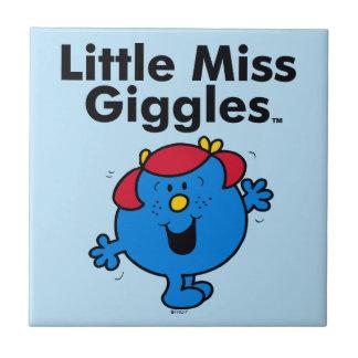 Carreau Petite petite Mlle Giggles Likes To Laugh de la