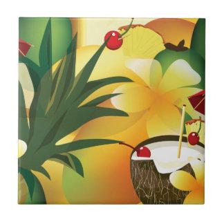 Carreau Petite tuile de barre tropicale hawaïenne de Luau