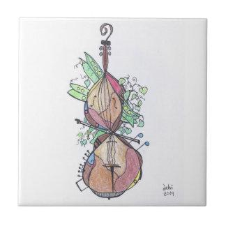 Carreau petite tuile :  violoncelle