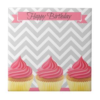 Carreau Petits gâteaux de joyeux anniversaire