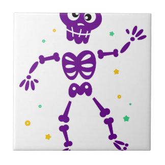 Carreau Peu de squelette pourpre mignon de danse