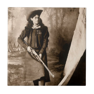 Carreau Photo vintage de Mlle Annie Oakley Holding un