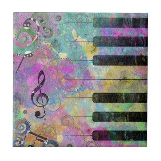 Carreau Piano coloré d'éclaboussures fraîches de couleurs