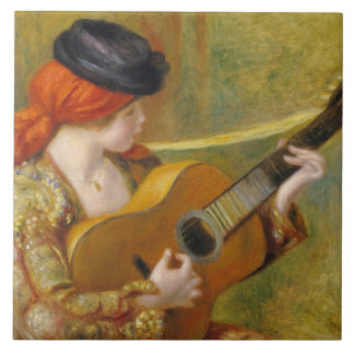 Carreau Pierre une jeune femme espagnole de Renoir   avec