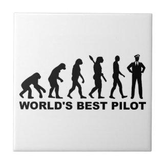 Carreau Pilote du monde d'évolution le meilleur