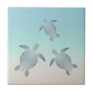 Carreau Plage argentée de tortue de mer